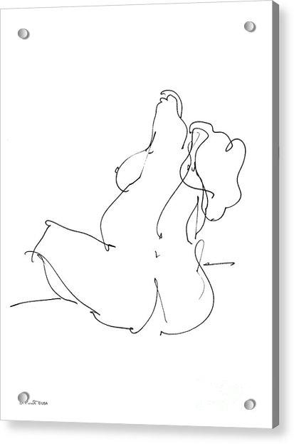 Nude-female-drawings-20 Acrylic Print
