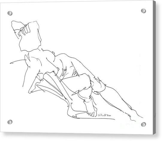Nude Female Drawings 3 Acrylic Print