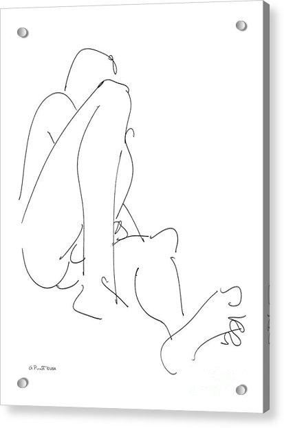 Nude-male-drawing-12 Acrylic Print
