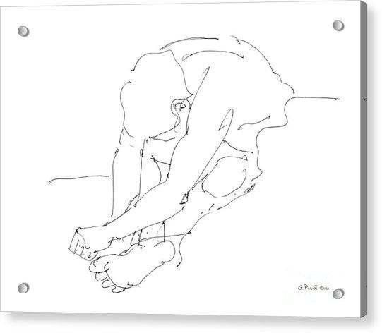 Nude Male Drawings 8 Acrylic Print