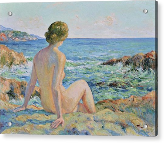 Nude On The Coast Monaco Acrylic Print