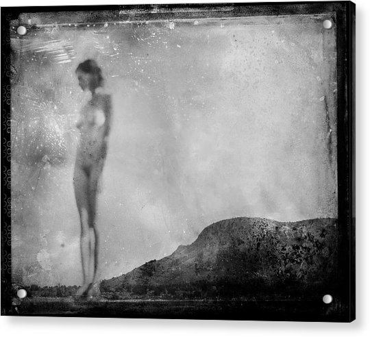 Nude On The Fence, Galisteo Acrylic Print