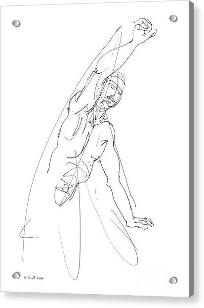 Nude_male_drawing_25 Acrylic Print