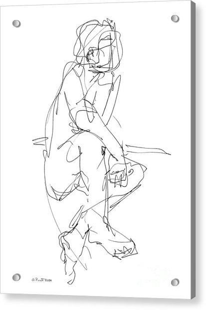 Nude_male_drawing_29 Acrylic Print