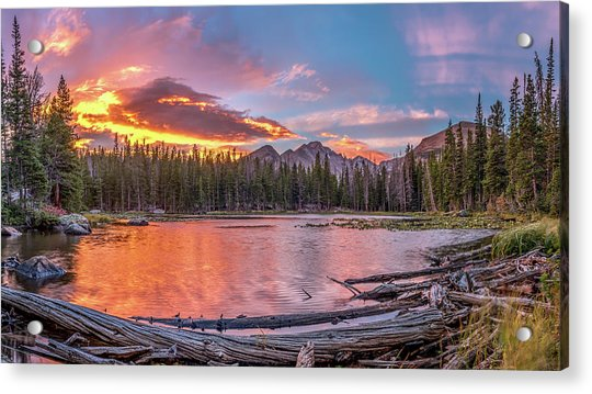 Nymph Lake Sunrise Acrylic Print by Robert Yone