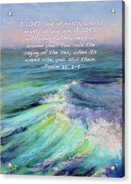 Ocean Symphony With Bible Verse Acrylic Print