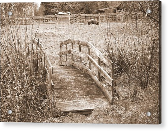 Old Bridge Acrylic Print