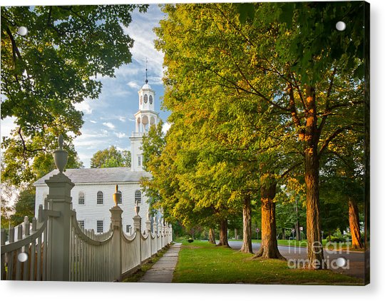 Old First Churchin Bennington Acrylic Print