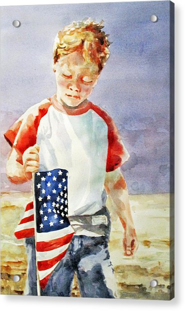 Old Glory Forever Young Acrylic Print