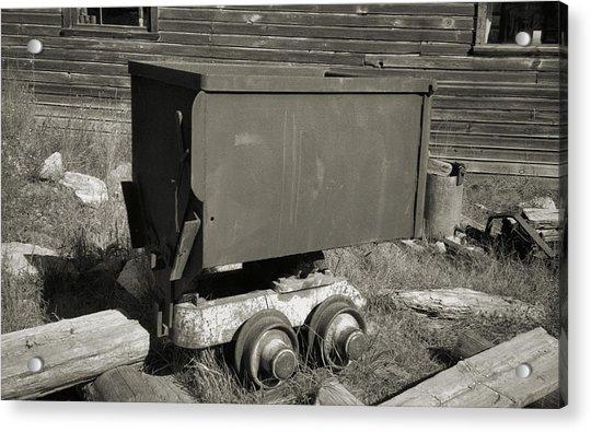 Old Mining Cart Acrylic Print