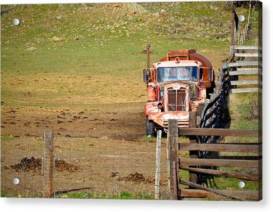Old Pump Truck Acrylic Print