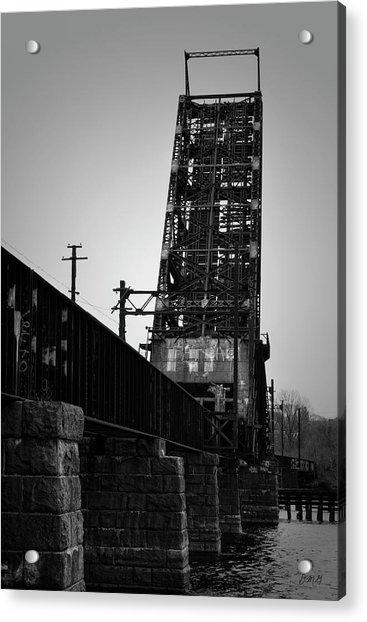 Old Rr Bridge Providence Ri Acrylic Print