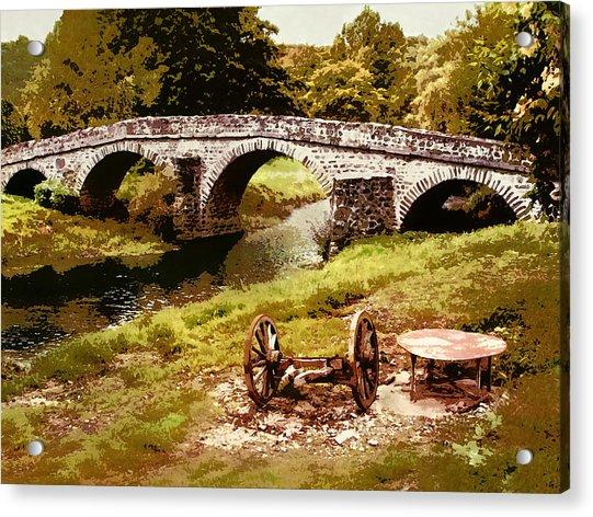 Old Stone Bridge In France Acrylic Print