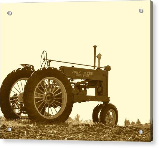 Old Tractor IIi In Sepia Acrylic Print