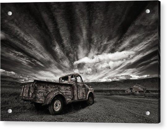 Old Truck (mono) Acrylic Print by Thorsteinn H. Ingibergsson
