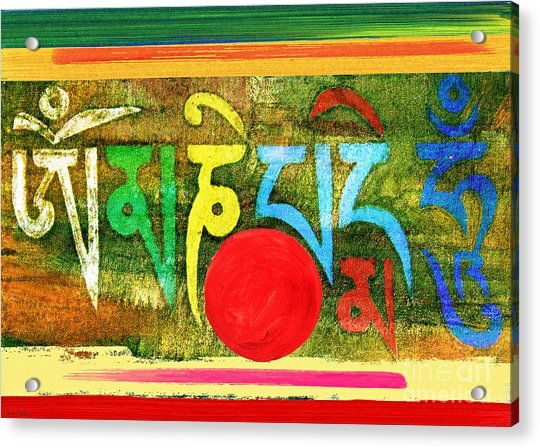 Om Mani Padme Hum Acrylic Print