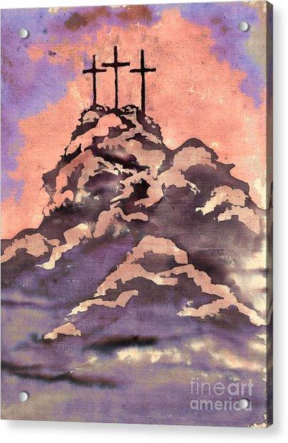 On A Hill Far Away Acrylic Print