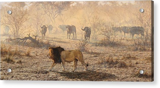 Acrylic Print featuring the painting On Patrol by Alan M Hunt