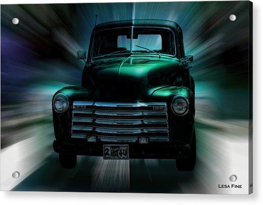 On The Move Truck Art Acrylic Print