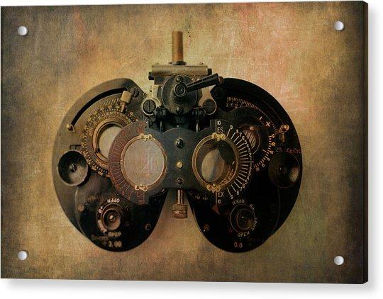 Optometrist Equipment Acrylic Print