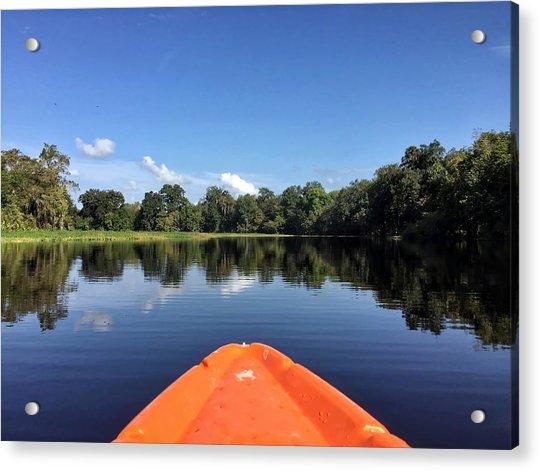 Orange Kayak  Acrylic Print