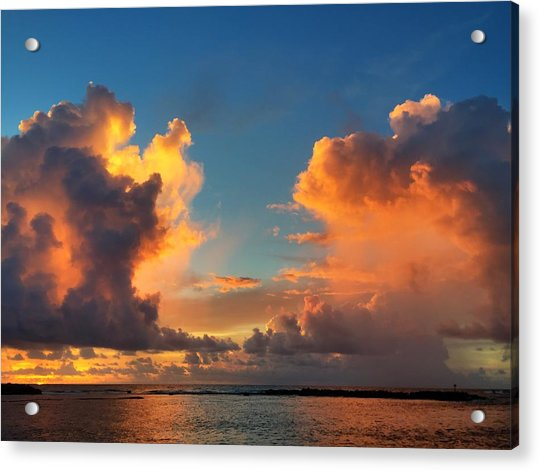 Orange To The Left And To The Right Acrylic Print