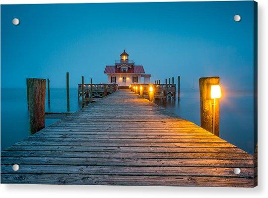 Outer Banks Manteo Nc Roanoke Marshes Lighthouse Obx North Carolina Acrylic Print