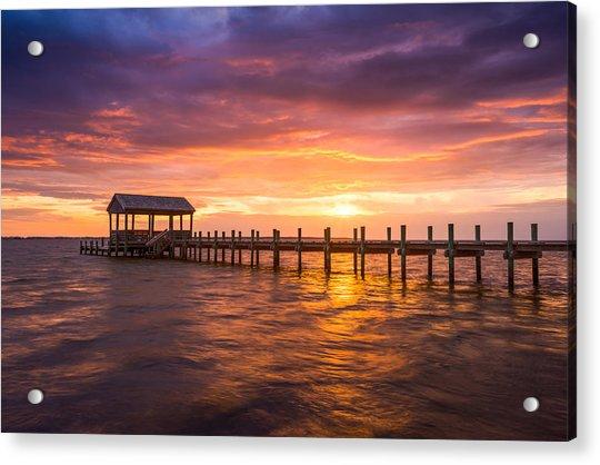 Outer Banks North Carolina Nags Head Sunset Nc Scenic Landscape Acrylic Print