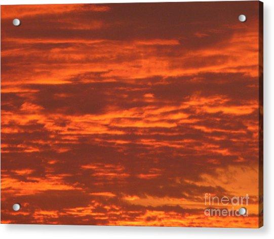 Outrageous Orange Sunrise Acrylic Print