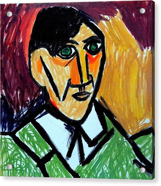Pablo Picasso 1907 Self-portrait Remake Acrylic Print