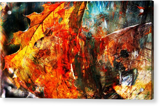 Painted Branches Abstract 2 Acrylic Print