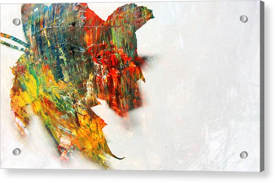 Painted Leaf Abstract 1 Acrylic Print