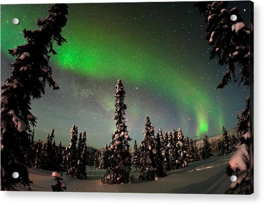 Painting The Sky With The Northern Lights Acrylic Print