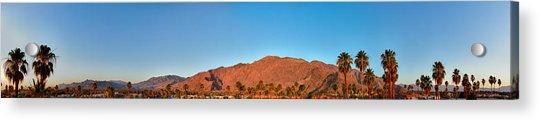 Palm Springs Sunrise Acrylic Print