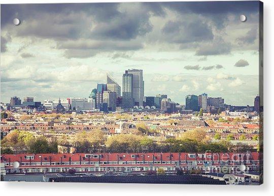 panorama of the Hague modern city Acrylic Print