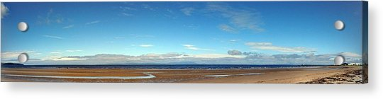 Panoramic, Ayr Beach, Scotland Acrylic Print