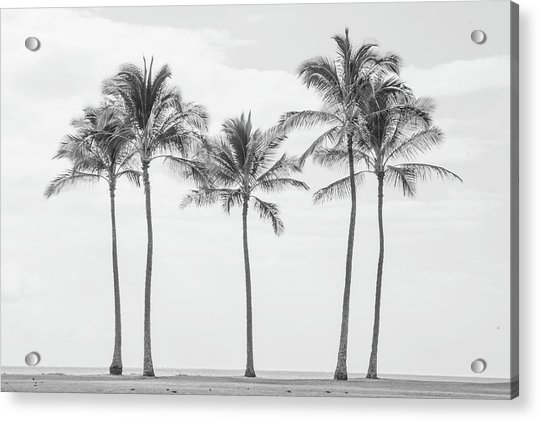 Paradise In Black And White II Acrylic Print