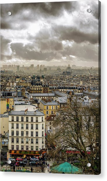 Paris As Seen From The Sacre-coeur Acrylic Print