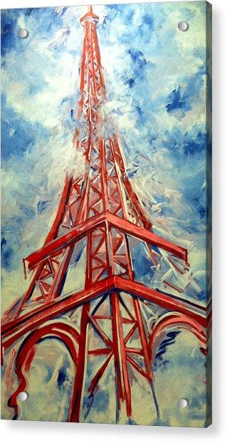 Paris Backdrop Acrylic Print