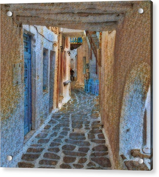 Acrylic Print featuring the photograph Paros Beauty Island Greece  by Colette V Hera Guggenheim