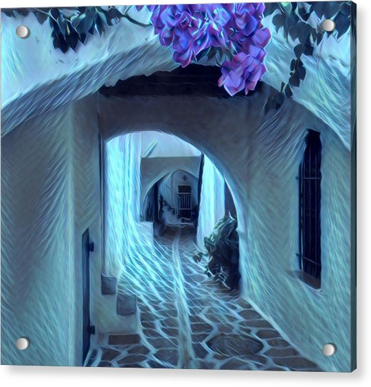 Acrylic Print featuring the photograph Paros Island Beauty by Colette V Hera Guggenheim