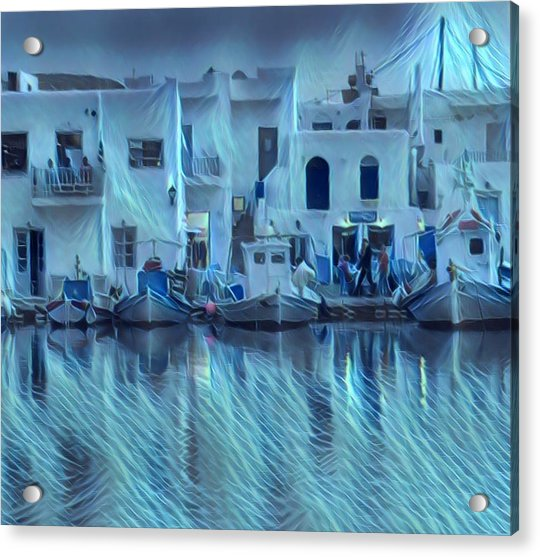 Acrylic Print featuring the photograph Paros Island Beauty Greece by Colette V Hera Guggenheim