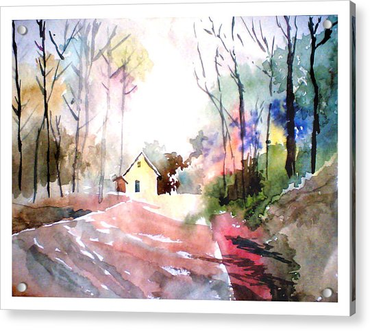 Path In Colors Acrylic Print