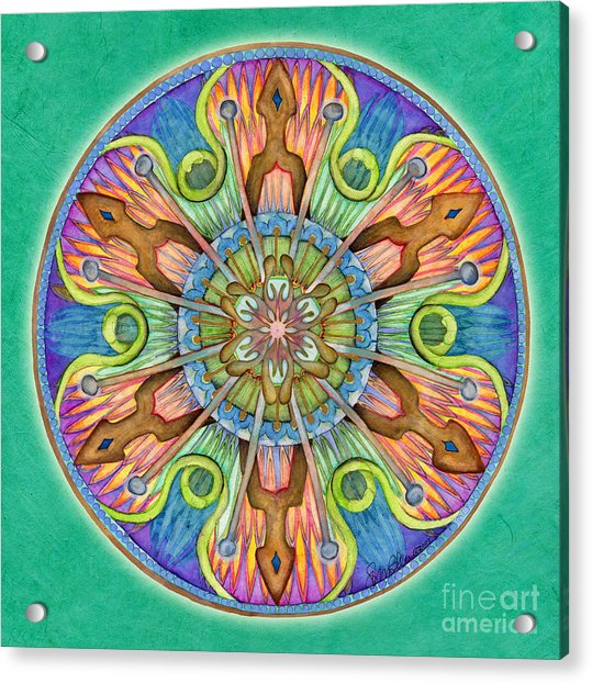 Patience Mandala Acrylic Print