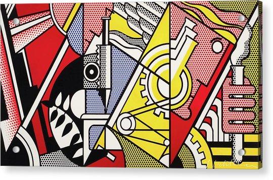 Peace Through Chemistry I - Roy Lichtenstein Acrylic Print