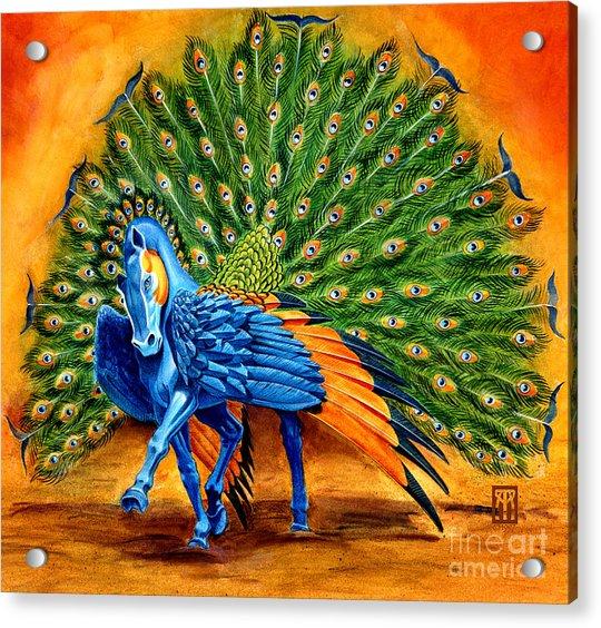 Peacock Pegasus Acrylic Print