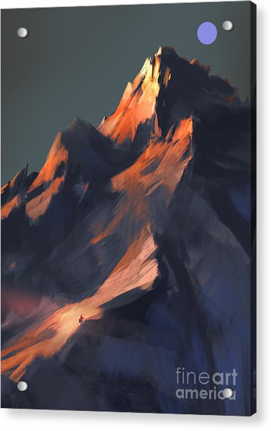 Acrylic Print featuring the painting Peak by Tithi Luadthong