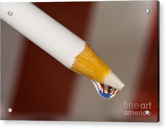 Pencil Flag Drop Acrylic Print