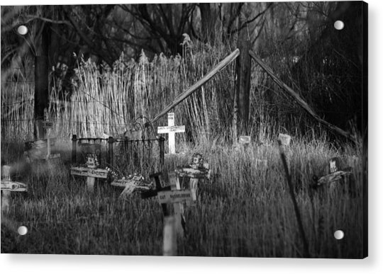 Pet Cemetery Acrylic Print
