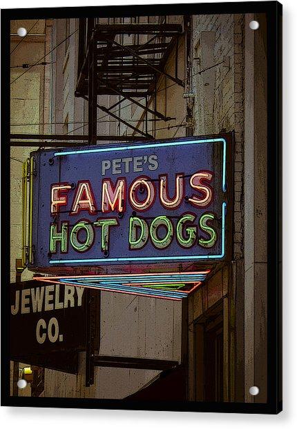 Pete's Famous Poster Acrylic Print
